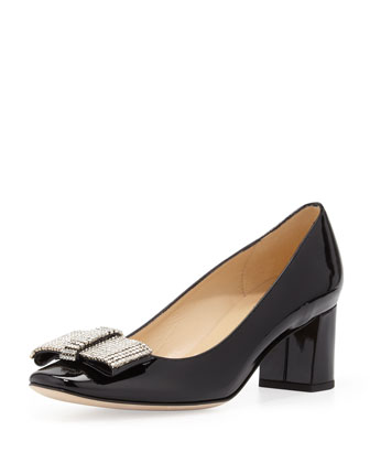 dina patent crystal-bow pump, black