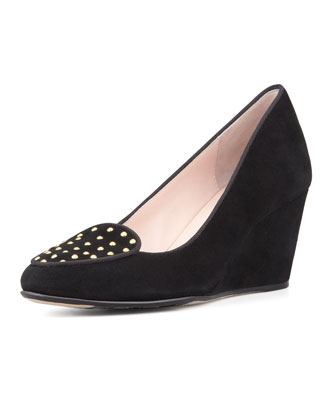Keshy Studded Wedge Pump