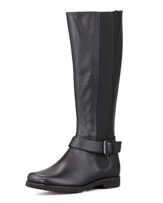 Janai Gored Riding Boot, Black