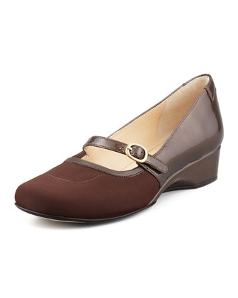 Kandy Micro-Wedge Mary Jane, Taupe