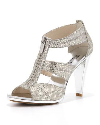Berkley Glittered T-Strap Sandal