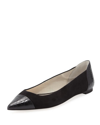 Leighton Pointed-Toe Flat