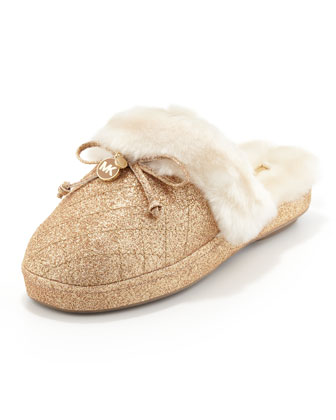 Carter Shimmery Plush Slipper