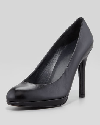 Platswoon Leather Platform Pump