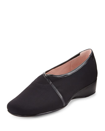 Kelsey Micro-Wedge Slip-On, Black