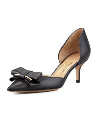 Rietta Bow d'Orsay Pump, Black