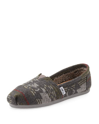 Jacquard Flannel Slip-On