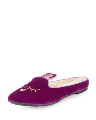 Sleeping Bunny Slipper, Violet