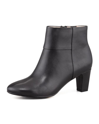 Disa Leather Bootie, Black