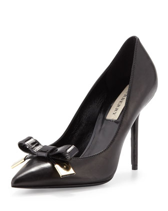 Pointy Patent-Bow Pump
