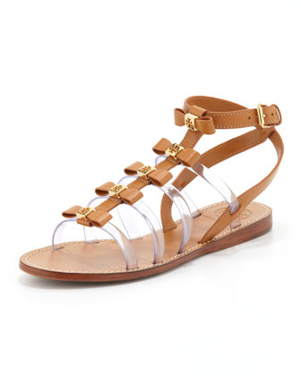 Kira Gladiator Bow Sandal, Custom Tan