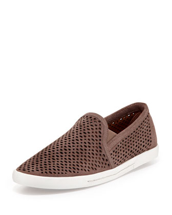 Kidmore Perforated Suede Sneaker, Mink