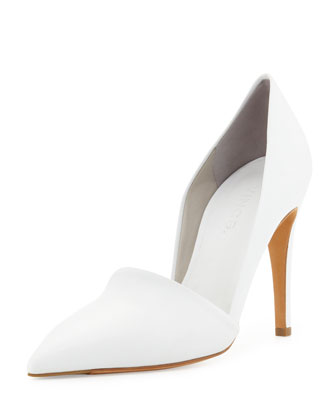 Anya Pointed-Toe Pump, White
