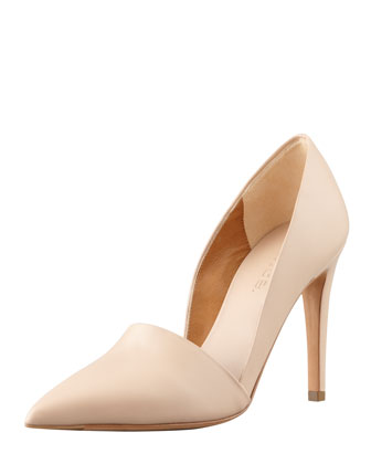 Anya Pointed-Toe Pump, Cappuccino