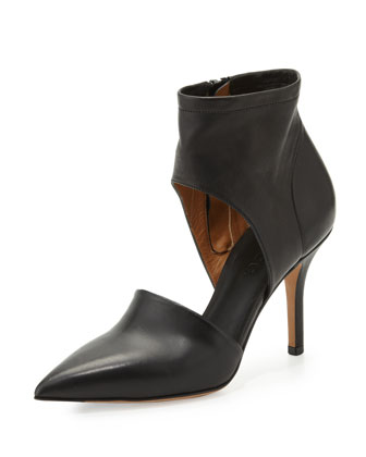 Cristina Ankle Wrap Pump, Black