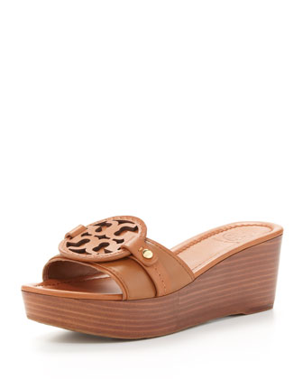 Madalena Wedge Slide, Vintage Vachetta