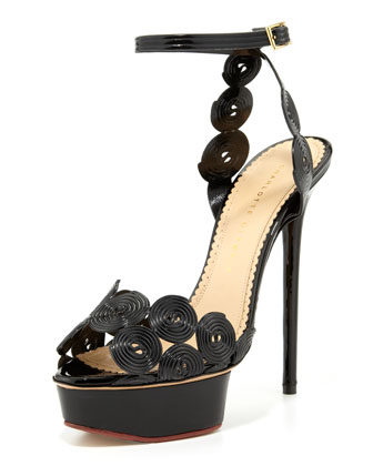Candy Licorice Platform Sandal
