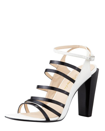 Ella Strappy Leather Sandal, White