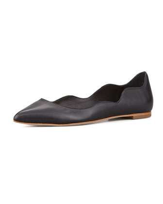 Milla Scalloped Point-Toe Flat