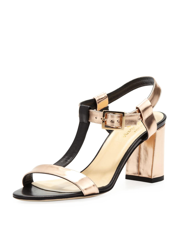 aisha t strap mirror sandal   kate spade new york   Rose gold (39.0B/9.0B)