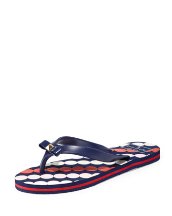 fiji rubber flip-flop, french navy