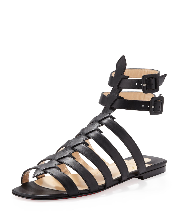 christian louboutin snakeskin cage sandals