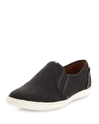 Maya Beaded Slip-On Sneaker, Black