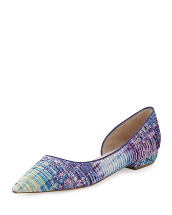 Multicolor Point-Toe Ballerina Flat
