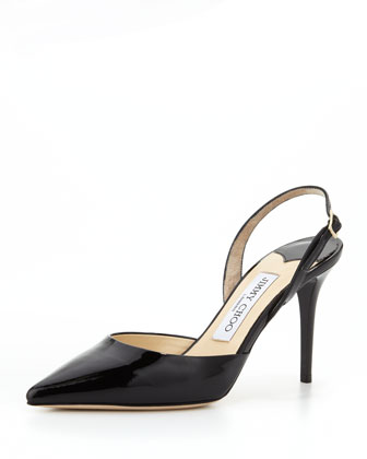 Tilly Patent Slingback Pump, Black