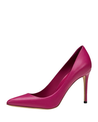 Brooke High-Heel Point-Toe Pump, Pink