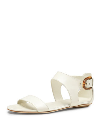 Nadege Flat Ankle-Wrap Sandal