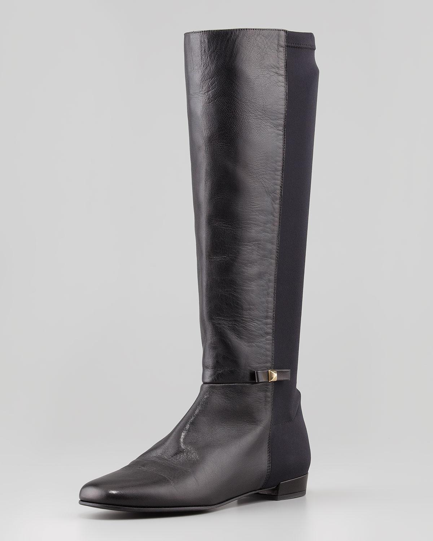 Stretch Back Napa Knee Boot, Black   kate spade new york   Black (38.5B/8.5B)
