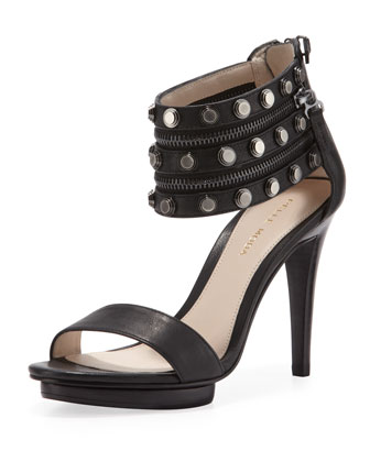 Naya Studded Sandal, Black