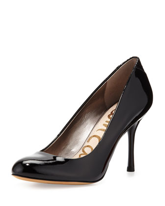 Camden Faux-Patent Pump, Black
