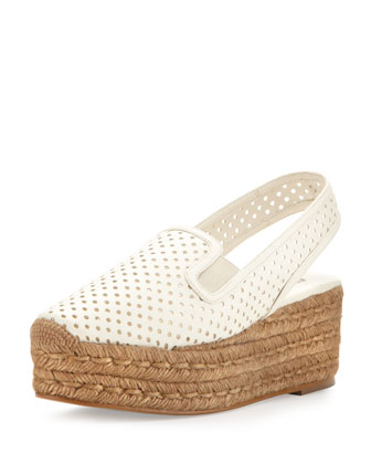 Perforated Espadrille Flatform Sandal
