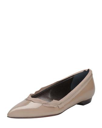 Pointed Ballerina Flat, Beige