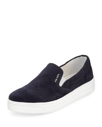Suede Slip-On Sneaker, Blue