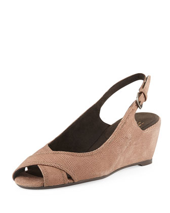 Axiom Goosebump Slingback Wedge, Haze