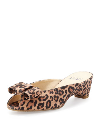 Candy Open-Toe Slipper, Leopard
