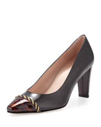 Caprice Pointed-Toe Pump, Black