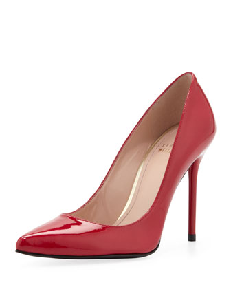 Nouveau Patent Point-Toe Pump, Raspberry