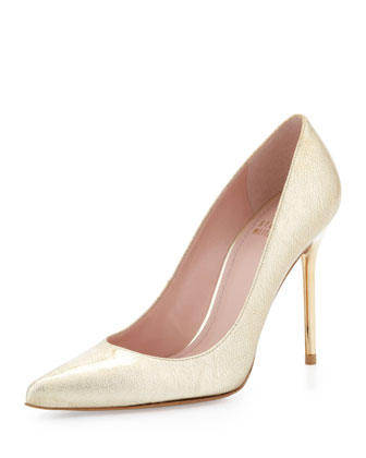 Nouveau Laminated Metallic Pump, Gold