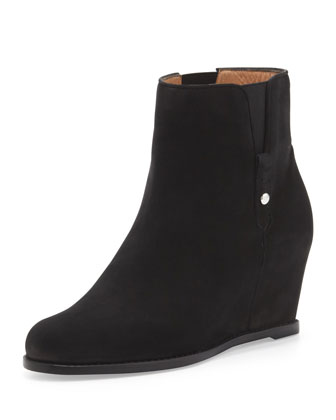 Pipecomo Suede Wedge Bootie, Black