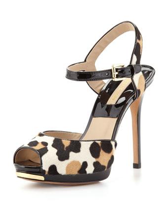 Bailee Leopard-Print Sandal