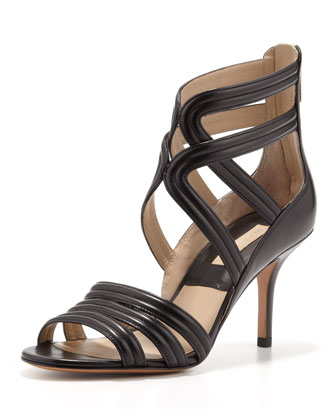 Sidney Leather Strappy Heel