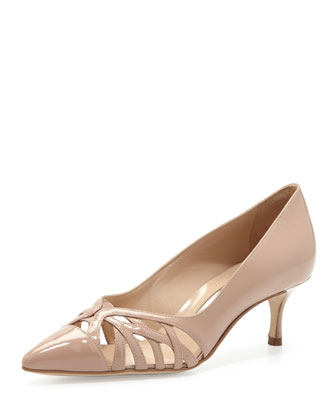 Gayatri Patent Cutout Pump, Flesh