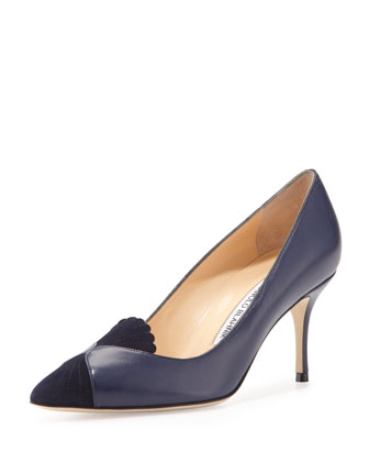 Ponte Scalloped-Detail Loafer Pump