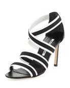 Rigata Bicolor Strappy Stretch Sandal