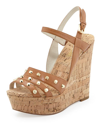 Jolie Studded Cork Wedge