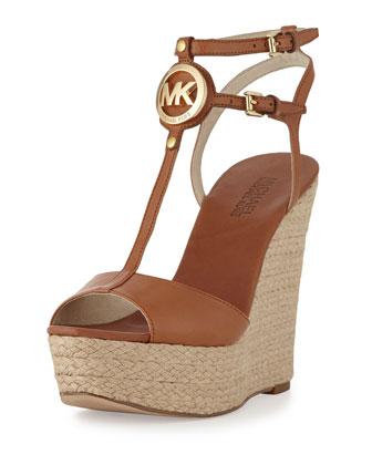Keely Logo Wedge Sandal